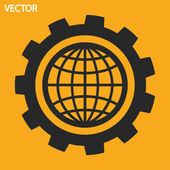 Setting parameters, globe icon. — Vetorial Stock