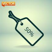 50 percent's tag icon — Stock Vector