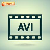 AVI video pictogram — Stockvector
