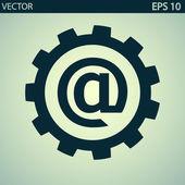 Устанавливая параметры, почтовый интернет-символ — Cтоковый вектор