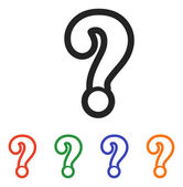Question mark sign icon — Stock Vector