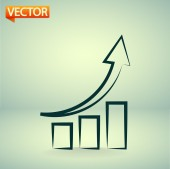 Chart icon — Stock Vector