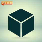 3d cube logo design icon — Stock Vector