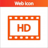 Hd video-ikonen — Stockvektor