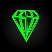 Romb (diamant — Stockvektor