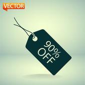 90 percent's OFF tag icon — Stockvektor