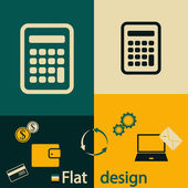 Räknaren ikonen platt design — Stockvektor