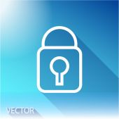 Lock icon. Flat design style — Stock Vector