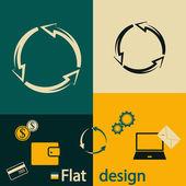 Circular arrows icon — Stock Vector