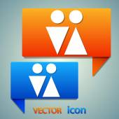 Male and female symbols icon — Stock Vector
