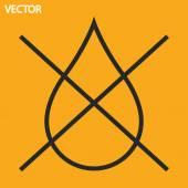 Water drop forbidden icon — Vetorial Stock