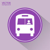 Bus pictogram — Stockvector