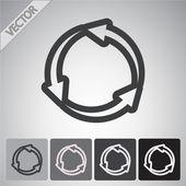 Circulaire pijlen pictogram — Stockvector