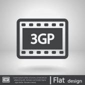 3gp video icon — Stock Vector