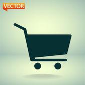 Shopping cart icon — Stock Vector