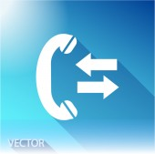 Phone, flat icon — Stock Vector