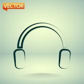 Headphones icon — Vettoriale Stock