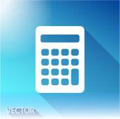 Kalkulator ikona Płaska konstrukcja — Wektor stockowy