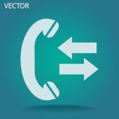 Incoming and outgoing calls sign icon — Stockvektor