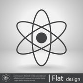 Abstract physics science model icon — Stock Vector