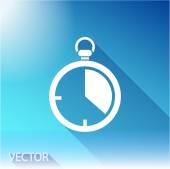 Stopwatch icon, vector illustration. Flat design style — Stock Vector