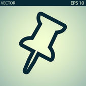 Push pin icon — Stock Vector