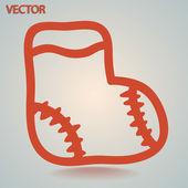 Children sock icon — Vector de stock