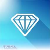 ダイヤモンド フラット アイコン — ストックベクタ