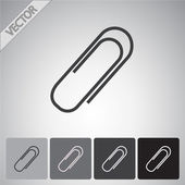 Paper clip icon — Stock Vector