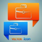Briefcase icon design — Stock Vector