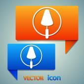 Trowel icon design design — Stock Vector