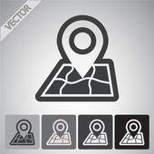 Mark pictogram, aanwijzer — Stockvector