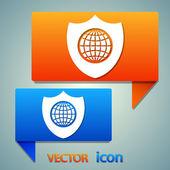 Shield icon. Flat design style — Stock Vector