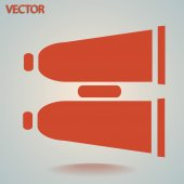 Binocular icon — Stock Vector