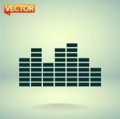Soundwave music icon — Stock Vector