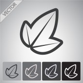 Leaf icon — Stock Vector