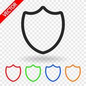 Символ щита. плоский стиль дизайна — Cтоковый вектор