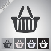 Ícone de cesta de compras — Vetor de Stock