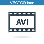 Icona video AVI — Vettoriale Stock