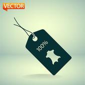 100 procent lederen labelpictogram — Vecteur
