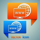 Monitor icon design — Stock Vector