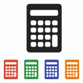 Calculator icon set — Stock Vector