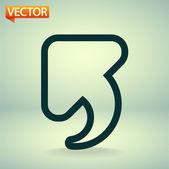 Undo icon, back arrow symbol — Stock Vector