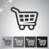 Shopping basket icon — Stock Vector