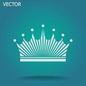 Icona di corona — Vettoriale Stock