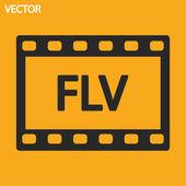 Flv icon — Stock Vector