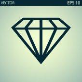 Diamanten-symbol — Stockvektor