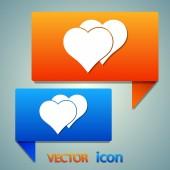 Hjärta ikon. — Stockvektor