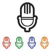 Microphone icon design — Stock Vector