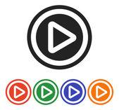 Jouer l'icône du bouton web — Vecteur